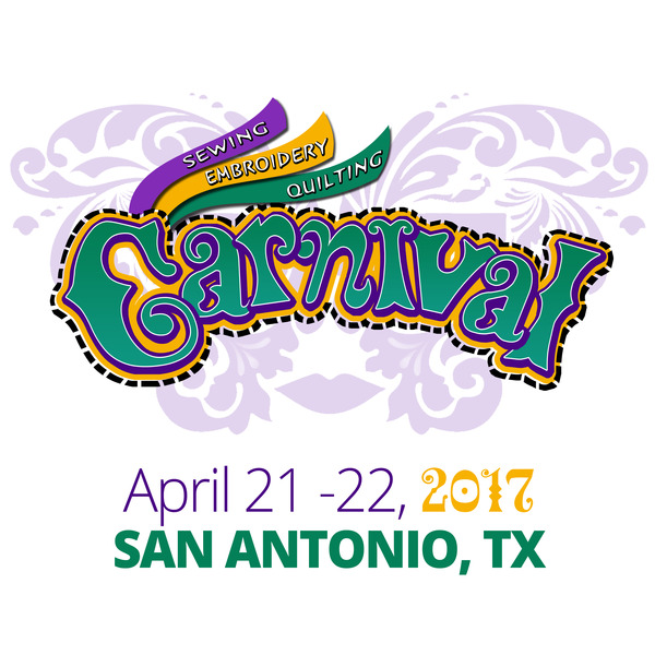 The Alamo SEQ Sewing Embroidery Quilting Carnival Fri-Sat April 21- 22, 2017 San Antonio, TX. Austin Hwy Event Centernohtin