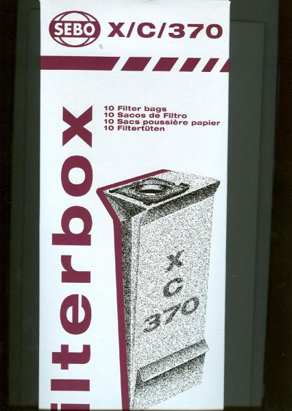 SEBO 5093AM 10Pk Standard Filter Dust Bags for X4, X5, C, G, 370 Vacsnohtin