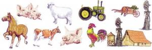 Balboa Threadworks 74N Barnyard Theme 1 5x7 Embroidery Disks