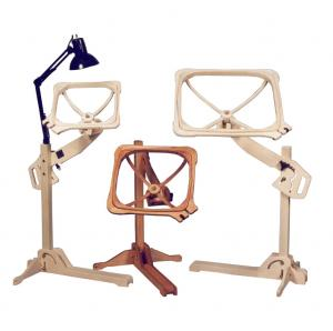 "The GraceHoop2 Traditional Wood 14"" Quilting Frame & Birch Stand with Edge Tools"