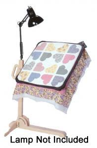 "Grace Hoop 2 Polypro 24"" Quilting Frame with Birch Stand and Edge Tools"