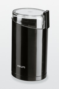 Krups, 203-42, Electric, Coffee Bean, & Spice, Grinder, for up to 15 Cup Capacity, Stainless Steel, Power Blade, Lid Activated, Safety Switch, - Black