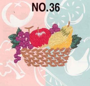 Brother No. 36 Fruits & Vegetables Embroidery Card SA336 For Brother, Babylock, Bernina Deco 500, 600, 650, White, Simplicity