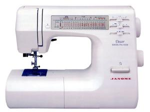 Janome DE-5124 Décor Excel Pro Top of Line Mechanical Sewing Machine,  Drop-in Bobbin, 1-Step Buttonhole, Speed Limit, NEEDLE STOP UP OR DOWN/USA ONLY