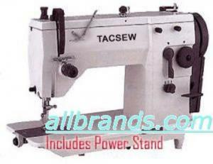 Tacsew T20U73  Professional 9mm Zig Zag Industrial Sewing Machine with Tacony 1/2HP Power Stand 1725RPM  (Copy of Singer 20U73 )