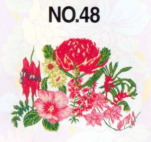 Brother SA348 No. 48 Australian Flowers 18 Designs Embroidery Card pes