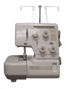 New Home (Janome) 104D Serger, with 2 Needle, 3 or 4 Thread Overlock Serging, Unique Differential Feed, ROLLHEM PLATE and Instruction Video USA ONLY