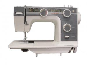 "Janome L-393 FLAT BED 14.5 x 7""  Metal Head Sewing Machine, 22 Stitches, 4-Step Buttonhole, Pressure Dial, Drop Feed & Electronic Speed Control USA ON"