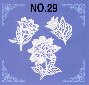 Brother No.29 Lace Embroidery Card SA329 For Brother, Babylock, Bernina Deco 500, 600, 650, White, Simplicity