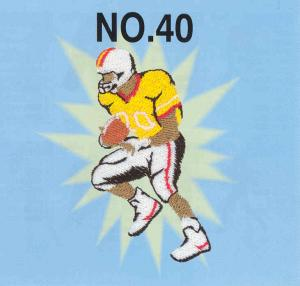 Brother No.40 Sports Embroidery Card SA340 For Brother, Baby Lock, Bernina Deco 500, 600, 650, Simplicity, & White