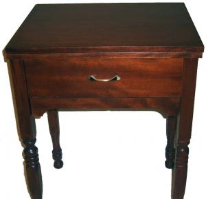 Delta Sewing Machine Cabinet 224 Walnut Console with Leaf