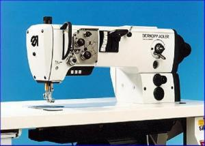 Durkopp Adler 367-170010 - Best Quality Lockstitch Walking Foot Needle Feed Flat Bed Upholstery Machine with Table,Stand  and 1/2 HP  Clutch
