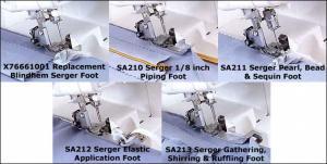 Brother Serger 5 Feet Foot SA210 SA211 SA212 SA213 X67771001 for 925D, 1034D, 1134D, 1634D DZ1234, 3034D, 4234DT, 5234PRW, PL2100