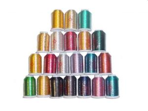 MonRex Metallic Individual 1100 yard Embroidery Thread Spools, Pick From 21 Colors