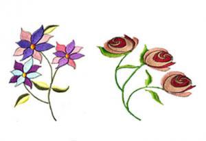 Joan Inman Garden CD Embroidery Designs