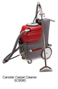 Sanitaire SC6080 Commercial Canister Carpet Extractor, 9 Gallon, 50' Cord, 15' Hose and 12