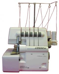 Consew 14TU-5432 Thread Freearm Serger, 7.7mm Wide Safety Stitch, 4mm Wide 2 Needle Cover Lock Hem Stitch, Single Needle Straight Chain Stitch Machine