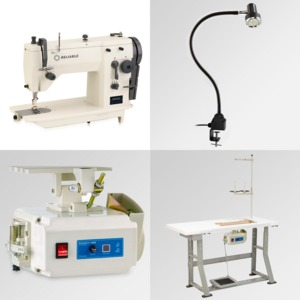 """Reliable, 20U73, industriaL zigzag,reliable industrial zigzag,copy of singer 20u,reliable 20u73,copy of singer 20u73, Reliable 20U73 (Singer 109) 9mm ZigZag 6mm Straight Stitch Sewing Machine 15 3/4x7"""" Flatbed, Power Stand 2500SPM 110V DC Motor, 100 Needles & Lamp*"""
