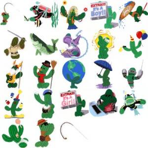 Cactus Punch CAC02 Cactus Characters 2 Embroidery Disk