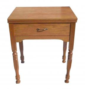 "Delta 323 Medium Oak Large Console Sewing Machine Cabinet, 26.5"" x 20"""