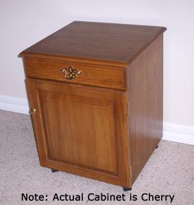Delta 4000 Cherry Sewing Credenza with top drawer and bottom cabinet door
