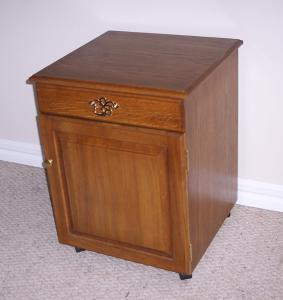 Delta 4001 Oak Sewing Credenza with top drawer and bottom cabinet door
