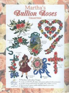 Martha Pullen Bullion Roses 22 Designs Collection Multi-Formatted CD