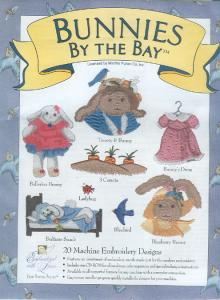 Martha Pullens Bunnies By The Bay Embroidery Designs Multi-Formatted CD