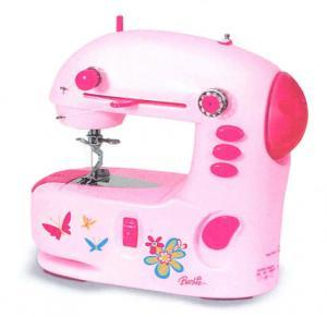 Barbie II Supreme Lightweight Portable Sewing Machine with Built-in Light and AC Adaptor from Jamac