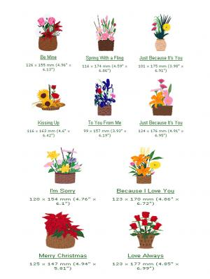 Cactus Punch GST09 Basket Bouquets Embroidery CD