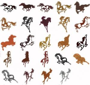 Cactus Punch HOR01 Horses 1, Horses Silhouettes Embroidery CD