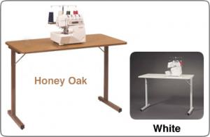 "Roberts 295 Deluxe Folding Utility Table/Stand 40x20"" also for Sewing or Knitting Machines - Specify White or Honey Oak"