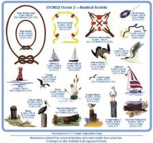 Cactus Punch OCN2 Ocean 2 Nautical Accents Embroidery CD