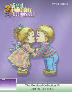 Great Notions 112174 MH10 Morehead Just the Two Of Us  Multi-Formatted CD Embroidery Designs