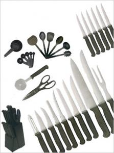 Ginsu 03236 Home Basics 36 Piece Knife Set, Scissors, Block, warranted to be free of defects in materials and workmanship as long as you own