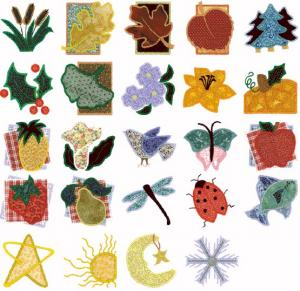 Cactus Punch SIG20 Applique' Designs From Nature Mari Mulari Embroidery Disk