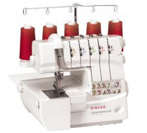 Singer QuantumLock 14T967DC 5-4-3-2 Thread Coverhem Serger AUTO TENSION - 6 Optional Feet