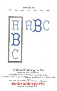 Embroideryarts Woolworth monogram Set Multi-Formatted Floppy Disk