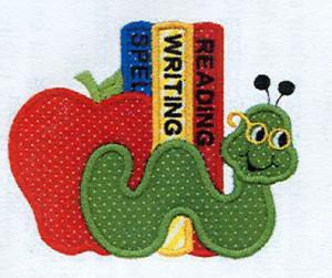 Fall School ABC Crayon Bookworm Bear Birdhouse Turkey School Bus