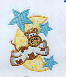 baby Moo Cow, Rattle Pacifer, bear Foot Print, Sew Many Designs, Moo Baby Applique, Embroidery Machine Designs, Multi-Formatted CD