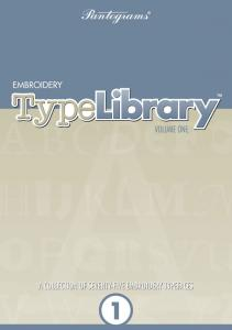 Pantograms Embroidery TypeLibrary Volume One Lettering Software For Use With Monogram SP And Embroidery Magic 2