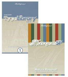Pantograms, Embroidery, Type Library, Volume One, Lettering Software, and Monogram SP Lettering, Sizing, Placement Software, Combo, Pantograms Embroidery Type Library Volume One Lettering Software and Monogram SP 50 Font Lettering, 120 Borders, Sizing, Placement Software Combo