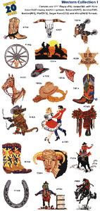 Great Notions1007 Western I Embroidery Multi-Formatted CD