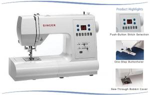 Singer 7466 Touch&Sew 70 Stitches, 120 Functions, Computer Electronic Sewing Machine, 3x1-step BH's, Drop-in Bobbin, 25/5/3 Yr Ext. Wnty