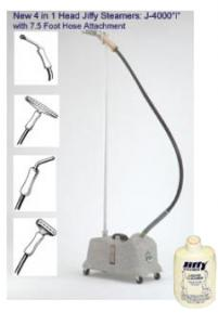 Jiffy J-4000i Commercial Fabric Garment Steamer All 4 Heads, 7.5´ Hosenohtin