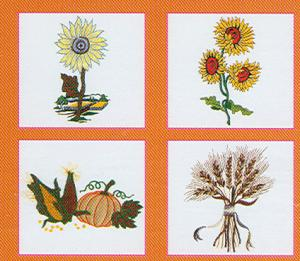 Pfaff 328 Autumn Embroidery Card For The Pfaff 2140 and 2170 Machines in .pcs format
