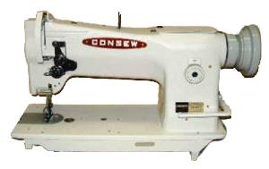 Consew 206RB5 Walking Foot, Needle Feed Industrial Upholstery Sewing Machine 206RB-5, SC Safety Clutch Retiming, Big M Bobbin, UNASSEMBLED Power Stand