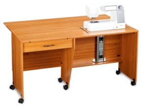 Shown as purchased. The machine support in the highest position and the