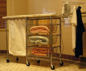 "Lifestyle MLC-01 43x15"" Mobile Ironing Board Center, Baskets, Hamper"