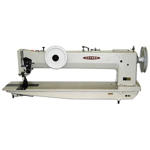"Consew 744R-30"" Longarm Extra Heavy Duty, Single Needle, Compound Walking Foot & Unison Needle Feed Industrial Sewing Machine & Assembled Power Stand"